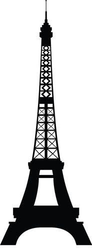 Paris Skyline Eiffel Tower - - - orange county - by Dana Decals