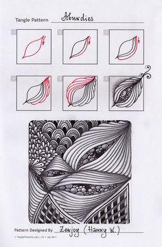 Zentangle. Обучение. Формат страницы: А5. Материалы: гелевая ручка, карандаш…