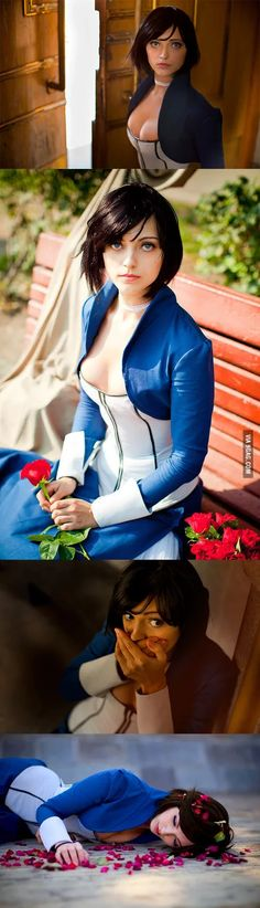 Elizabeth cosplay from Bioshock Infinite. Looks just like the game. Epic Cosplay, Amazing Cosplay, Cosplay Outfits, Cosplay Girls, Anime Cosplay, Elizabeth Cosplay, Bioshock Cosplay, Cosplay Characters, Cultura Pop