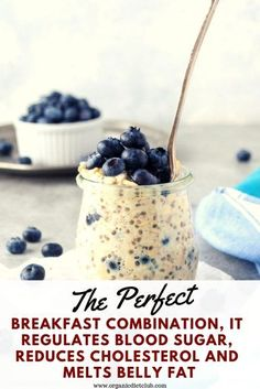 A Healthy Breakfast: The Perfect Breakfast Combination It Regulates Blood Sugar Reduces Cholesterol And Melts Belly Fat. Healthy Drinks, Healthy Snacks, Healthy Recipes, Healthy Foods, Healthy Breakfasts, Healthy Fruits, Healthy Cooking, Healthy Weight, Healthy Life