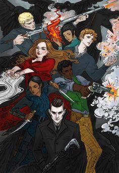 "lbardugo: "" phantomrin: "" Finally read ""Crooked Kingdom"" (by ^_^ "" Ohhhhhh glorious "" Six Of Crows Characters, Book Characters, Fanart, Eleanor E Park, Character Art, Character Design, Crooked Kingdom, The Grisha Trilogy, Crow Art"