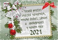 vanoce_vanocni_prani Christmas And New Year, Merry Christmas, Advent, Christmas Wreaths, Retro, Wallpaper, Holiday Decor, Cards, Home Decor