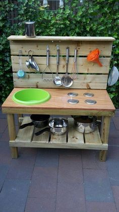 If you are looking for Outdoor Kids Kitchen, You come to the right place. Here are the Outdoor Kids Kitchen. This post about Outdoor Kids Kitchen was posted under the. Outdoor Play Kitchen, Mud Kitchen For Kids, Kids Outdoor Play, Outdoor Play Spaces, Backyard Kitchen, Backyard For Kids, Diy Kitchen, Diy For Kids, Kitchen Ideas