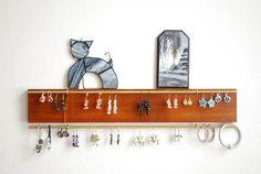 Necklace holder - Necklace organizer - Earring holder - Earrings stand - Jewelry organizer - Jewelry stand - Earrings holder Necklace Holder, Jewelry Holder, Earring Display, Jewellery Display, Amber Jewelry, Unique Jewelry, Jewelry Stand, Jewelry Armoire, Jewelry Organization