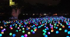 put glow sticks in a balloon and put them all over your yard......summer party!!!