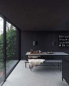 The Design Walker • Black room with a nice view.