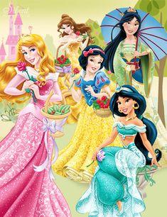 Disney Princesses - Dreams in Bloom by SilentMermaid21 on deviantART
