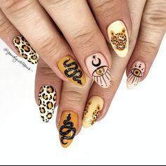 Edgy Nails, Funky Nails, Get Nails, Stylish Nails, Swag Nails, How To Do Nails, Edgy Nail Art, Grunge Nails, Nail Design Stiletto