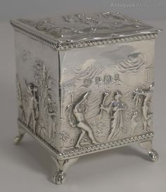 Antiques Atlas - Antique Silver Tea Caddy - 1900 By Thomas Hayes
