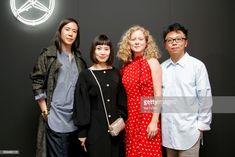 Fashion designers William Fan, Xiao Li, Anna October and Steven Tai attend the mbcollective Fashion Story - Chapter Two Global Launch at Soho House on July 2017 in Berlin, Germany. Get premium, high resolution news photos at Getty Images Xiao Li, Launch Party, Fashion Story, Fashion Designers, Anna, October, Product Launch, News, Stylists