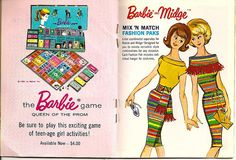 Barbie Game; Barbie & Midge Mix 'n Match Fashion Paks