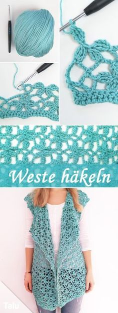 452 Besten Weste Bilder Auf Pinterest Filet Crochet Knit Crochet