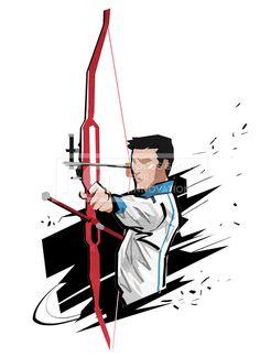 SPAI131, 프리진, 일러스트, SPAI131b, SPAI131, 스포츠, 에프지아이, 운동, 사람, 캐릭터, 액션, 모션, 남자, 1인, 스케치, 양궁, 활,#유토이미지 Asian Games, Tokyo 2020, Pencil Art Drawings, Taekwondo, Archery, Illustration, Concept Art, Cartoon, Beauty