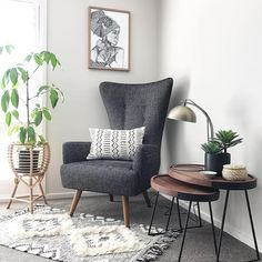 Looking for the perfect armchair to fill that empty corner? Look no further than our 'Giraffe' armchair as styled by With Home Living Room, Living Room Designs, Living Room Decor, Bedroom Decor, Flur Design, Room Corner, Corner Chair, Bedroom Seating, Home Decor Inspiration