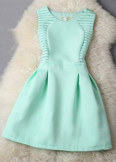 Mint green wedding guest dress