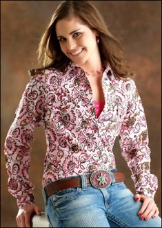 Love this shirt for for a pair of blue jean shorts, cowgirl boots and a white cami underneath.