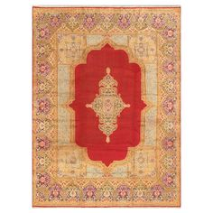 Kerman Rug In Navy And Red
