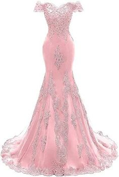 Beaded Evening Gowns, Mermaid Evening Gown, Evening Dresses, Elegant Dresses, Pretty Dresses, Pink Dresses, Girls Dresses, Formal Dresses, Mermaid Prom Dresses Lace