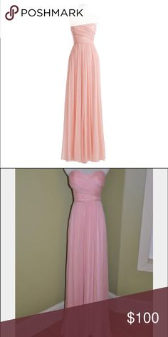💖 j crew Chiffon silk dress in misty rose. size 2. purchased from another seller but after pregnancy is not going to fit. she said she worn once as a bridesmaid. 🙅NO TRADE but I know some dumbo will ask any way lol. I rather keep if that. NO TRADE, might block you if you do. ✌🏻️happy poshing! J. Crew Dresses Maxi