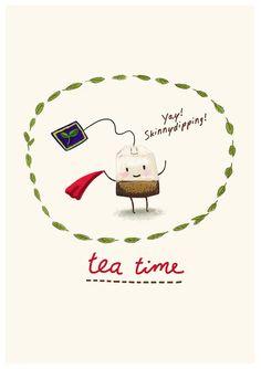 16 Ideas Funny Illustration Coffee Tea Time For 2019 Chai, Chocolate Cafe, Tea Illustration, Tea Quotes, Tea And Books, Cuppa Tea, Fun Cup, My Cup Of Tea, Tea Recipes