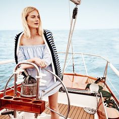 Go beyond Breton stripes. Our women's editor tells us how to rock the season's nautical trend. Link in bio. #gotitongilt by gilt
