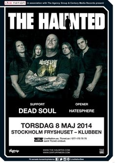 THE HAUNTED | 8 maj | Stockholm, Klubben |