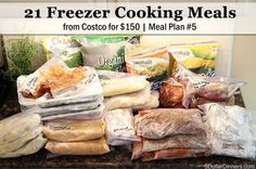 21 Freezer Cooking Meals From Costco - On A Budget!!! Makes *21 Meals for a family of 4* for ONLY $150!