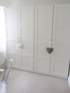 Stylish White 4 Doors Built In Ikea Wardrobe Feat White Curtain Windows And  White Furnishing Themes For Inspiring White Bedroom Designs