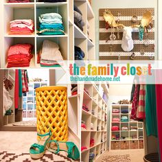 the family closet | combining all of the family clothes is in 1 master closet. Genius!!