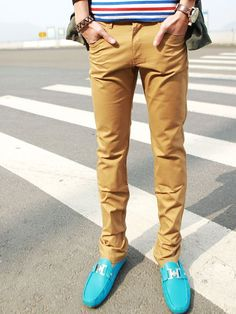 How to Style Skinny Colored Jeans for Men | Jeans For Men, Blue ...