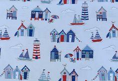 Weiteres - 840 Baumwolle Köper Maritim Weiß Blau Rot - ein Designerstück von my-kati bei DaWanda