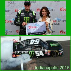Kyle Busch wins pole and race @ Indianapolis 2015 NASCAR Xfinity Series