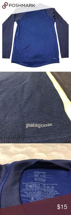 BOYS Patagonia | BlueLongSleeve EUC blue long sleeve Patagonia shirt. Boys size L (12) Patagonia Shirts & Tops Tees - Long Sleeve