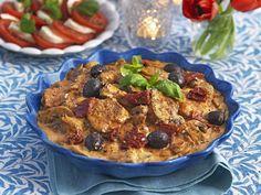 Italiensk fläskfilégryta Pesto, Cereal, Pizza, Beef, Chicken, Breakfast, Ethnic Recipes, Oliver, Food
