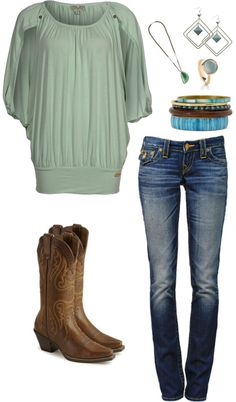 Green and Brown, created by hayleejade3 on Polyvore