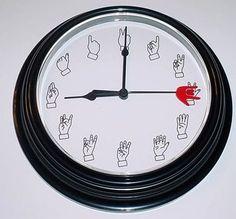FINGER NUMBER CLOCK (Black)
