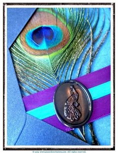 peacock theme wedding invite