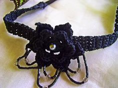 FATIMA CROCHET: Crocheted Flower Choker