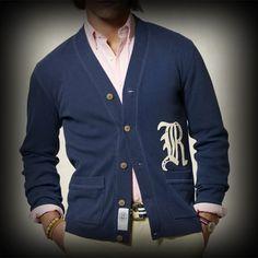 ラルフローレンラグビー メンズ ニット Ralph Lauren Rugby Varsity Ribbed Cotton Cardigan カーディガン-アバクロ 通販 ショップ #ITShop