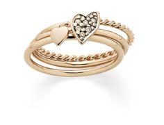 H.Stern - Anel My Collection de Ouro Rosé 18K com Diamantes Cognacs por R$ 2.960,00