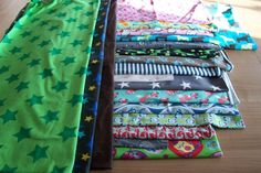 19 tlg. Stoffpaket Coupons Jersey Baumwollstoffe Markenstoffe Lillestoff Swafing