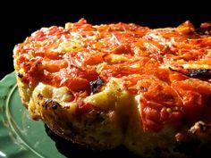 Upside-Down Tomato Basil Bread