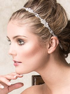 Wedding Hair Accessories Bridal Headband Grecian by ChrysanthInc