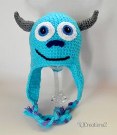 Thursday Handmade Love Week 65 Theme: Monsters Includes links to #free #crochet patterns  Monster Hat-newborn to adult-made to order via Etsy