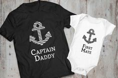 Captain daddy first mate father son matching by EpicTees4You