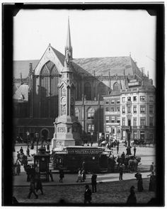vintage everyday: Amsterdam in Victorian Era – 28 Impressive Vintage Photos of the Capital of Netherlands Before 1900 Dam Square, 1890 Tour En Amsterdam, Lloyd Hotel Amsterdam, Amsterdam City Centre, Visit Amsterdam, Amsterdam Travel, Dutch Netherlands, Dam Square, Victorian Era, Night Life