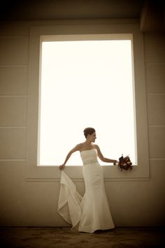 Rainy day bridal portrait session turned out to be a good thing!