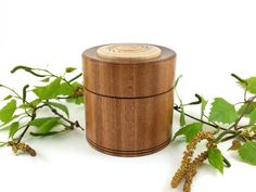 Turned wooden box made from Sapele & Beech, Wooden keepsake box, Woodturning, Ring box, Jewellery box, Turned Box with lid by SilvanWoodturning on Etsy