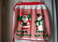 Christmas  Apron Terry Cloth Apron Santa by VintagePlusCrafts, $6.00