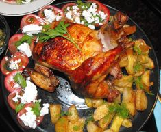 Delicious DIY Dinner Idea for you and your family. Herb/Citrus Oven Roasted Chicken with Potatoes and Garlic Roast Chicken Recipes, Turkey Recipes, Recipe Chicken, Recipes Dinner, Denmark Food, Baking Recipes, Healthy Recipes, Diabetic Recipes, Healthy Meals
